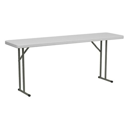 "Flash Furniture 18"" x 72"" Plastic Folding Training Table, White"