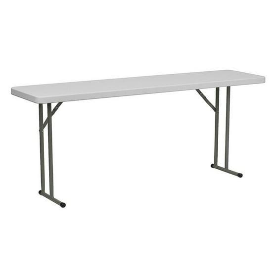 Flash Furniture 18 Quot X 72 Quot Plastic Folding Table White