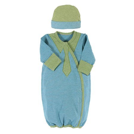 Toddler Cap And Gown (Stephan Baby 606116 Blue/Green Newborn Stripey Cap & Gown)