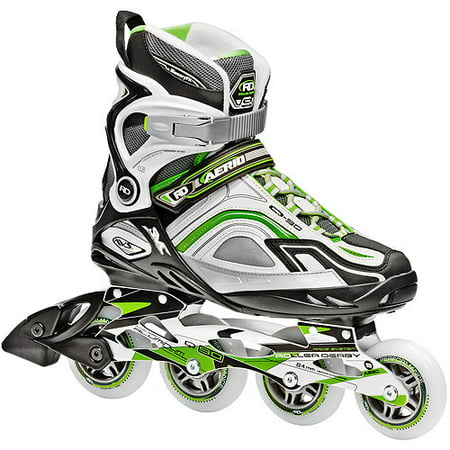 Roller Derby Skate Corp AERIO Q-90 Inline Women's Skates, Green (Light Up Roller Skate Necklace)