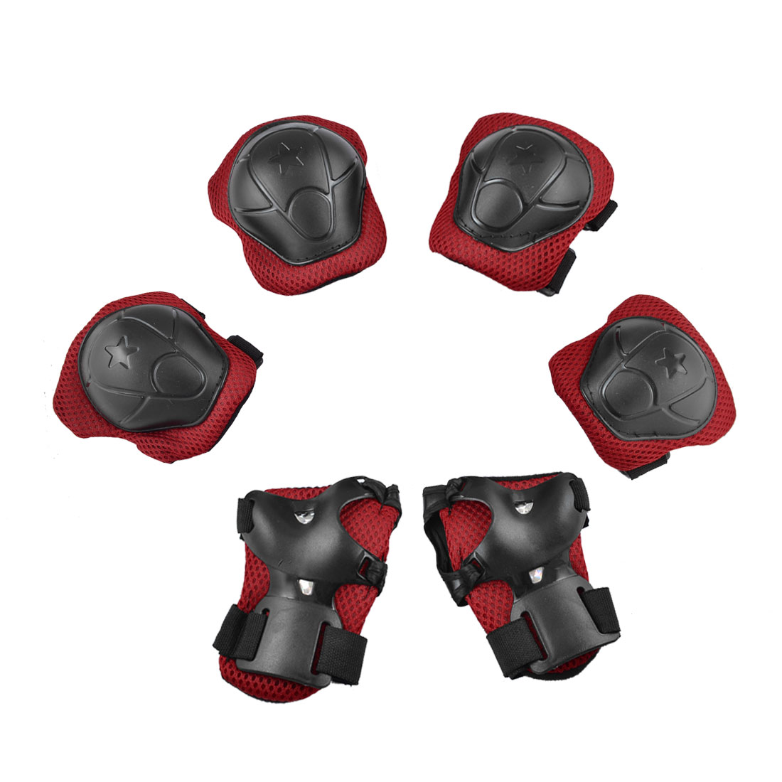 Children Extreme Sport Protective Gear Wrist Support Guard Elbow Knee Pads Set by Unique-Bargains