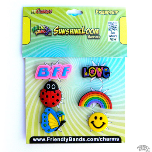 Friendly Bands Sunshine Charms, 6pk, Friendship