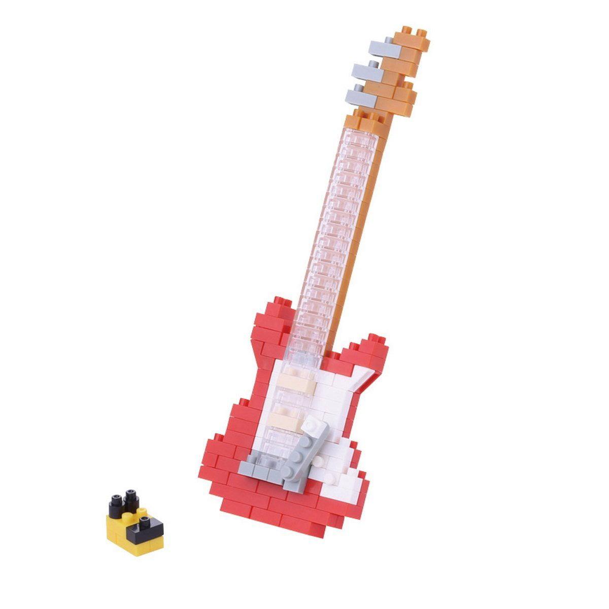 Nanoblock NBC-171 Electric Guitar Micro Block Miniature Collection Puzzle (160 Piece),... by
