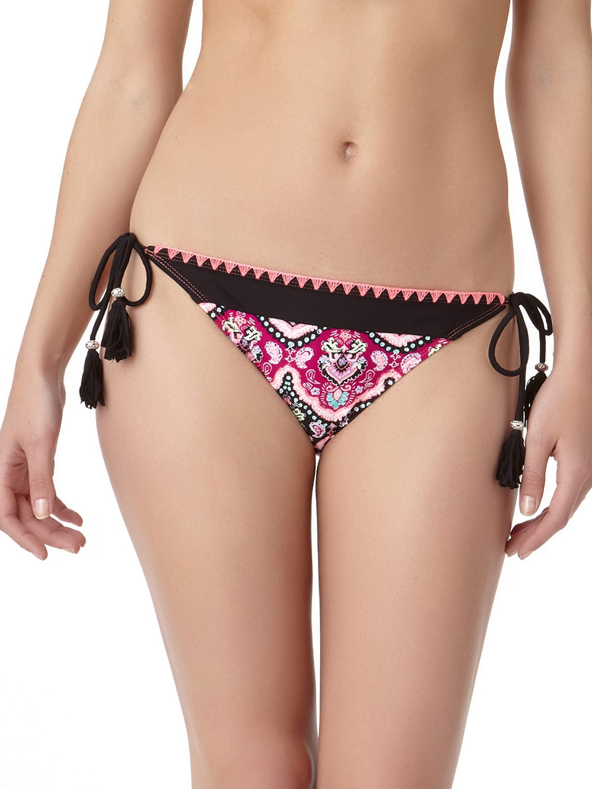 Collections By Women's Vintage Paisley Side Tie Swimsuit Bottom