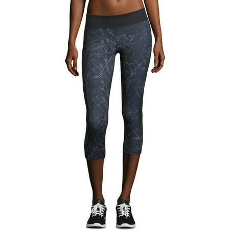 Blue And Grey Striped Leggings (Hanes Sport Women's Performance Color Blocked Capri)