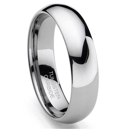- Tungsten Carbide 5MM Plain Dome Wedding Band Ring Sz 9.0