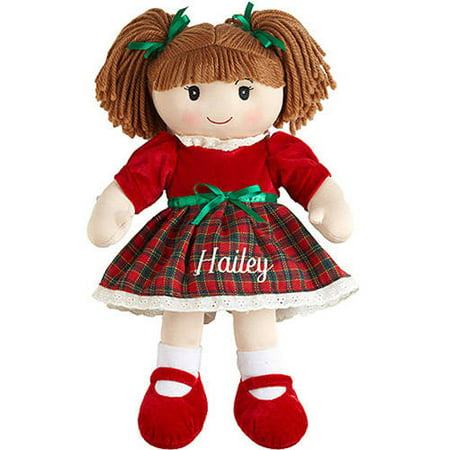 Personalized Christmas Rag Dolls Available In 6 Styles