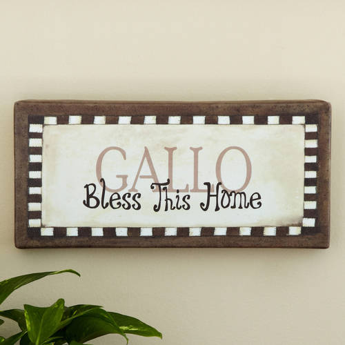 """Personalized """"Bless This Home"""" Canvas Wall Decor, Available in Multiple Colors"""
