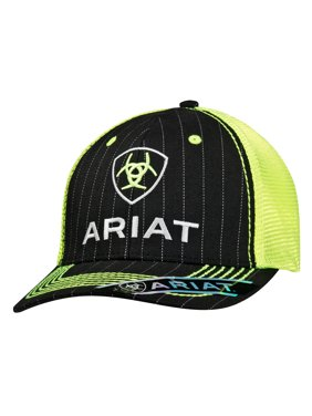 08810f13c4b Product Image Ariat Men s Shield Logo On Front Cap Black Lime Green OS