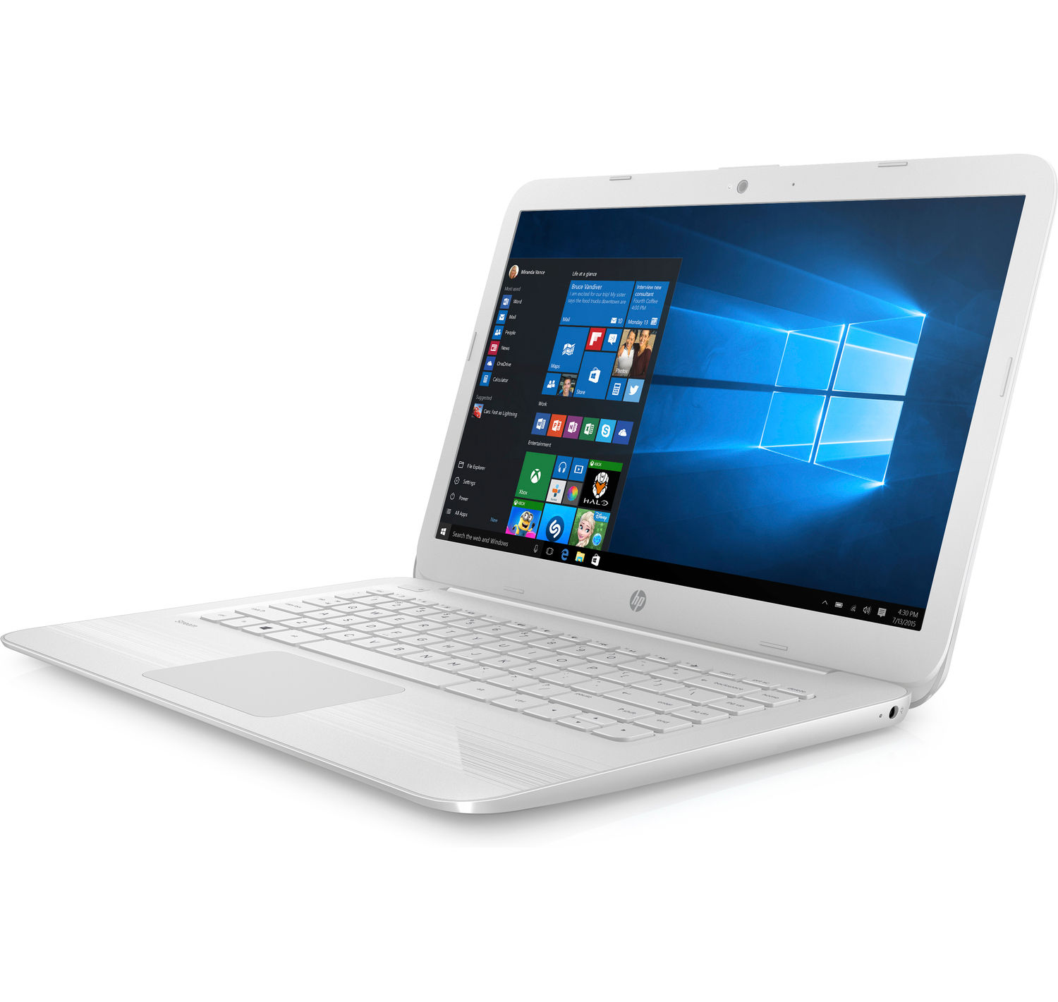 "HP Stream Notebook 14-ax027cl 14"" Screen, Celeron N 1.6GHz, 4GB RAM, 32GB eMMC, White (Certified Refurbished)"