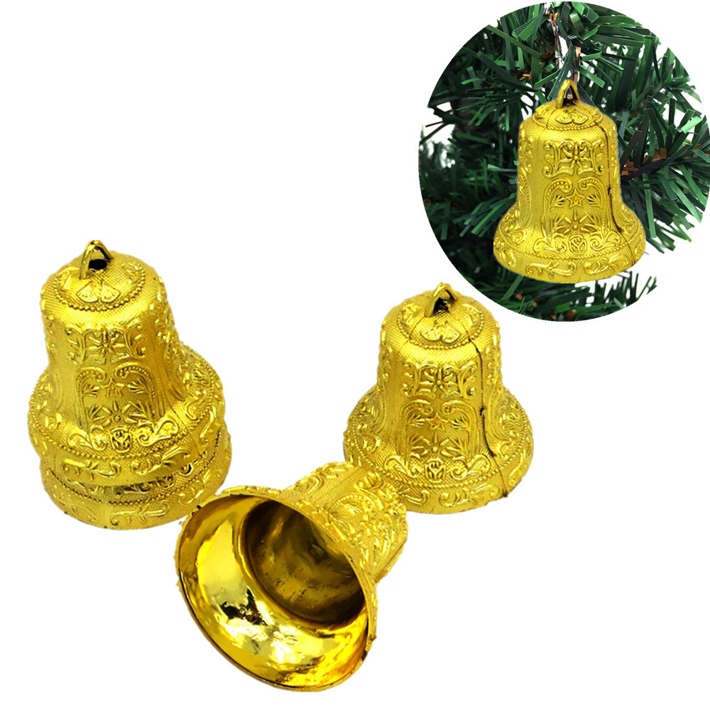 4Pcs Christmas Bell Christmas Tree Ornaments Xmas Decorative Pendant