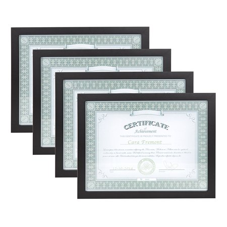 Gallery 8.5x11 Black Wood Document Picture Frame, Set of 4 ...