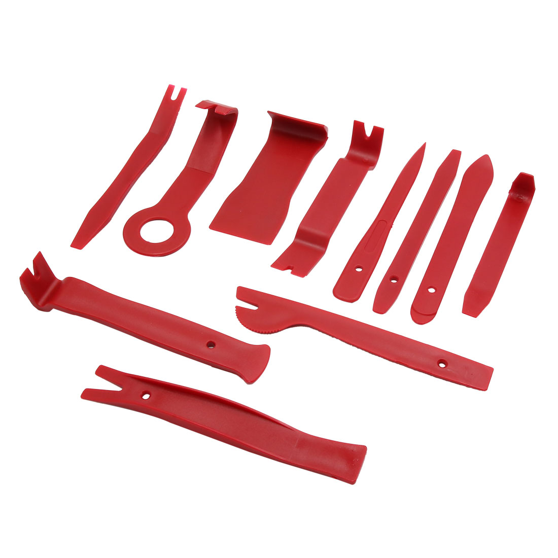 11 in 1 Red Car Door Clip Audio Rideo Stereo Dash Removal Pry Dismantle Tool