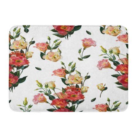 GODPOK Colorful Floral in Victorian Bouquet of Wedding Flowers White and Pink Watercolor Painting Botanical Rug Doormat Bath Mat 23.6x15.7 -