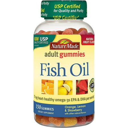 Nature Made Fish Oil Gummies, Orange, Lemon & Strawberry, 150 Ct](Gummy Fish)