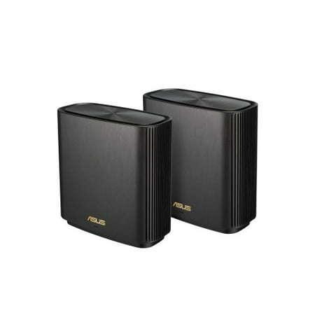 ASUS ZenWiFi AX Whole-Home Tri-band Mesh WiFi 6 System (XT8) - 2 pack, Coverage up to 5,500 sq.ft or 6+rooms, 6.6Gbps, WiFi, 3 SSIDs, life-time free network security and parental controls, Black