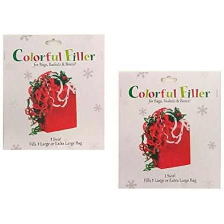 Large Swirl - Set of 2 Large Christmas Colorful Filler Tissue Wrap Swirls