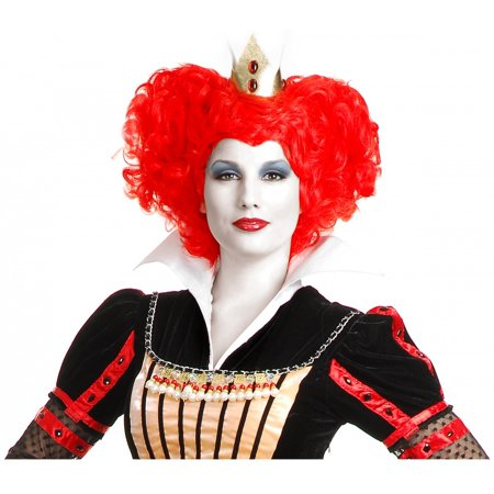 Red Queen Wig](Party City Red Wig)