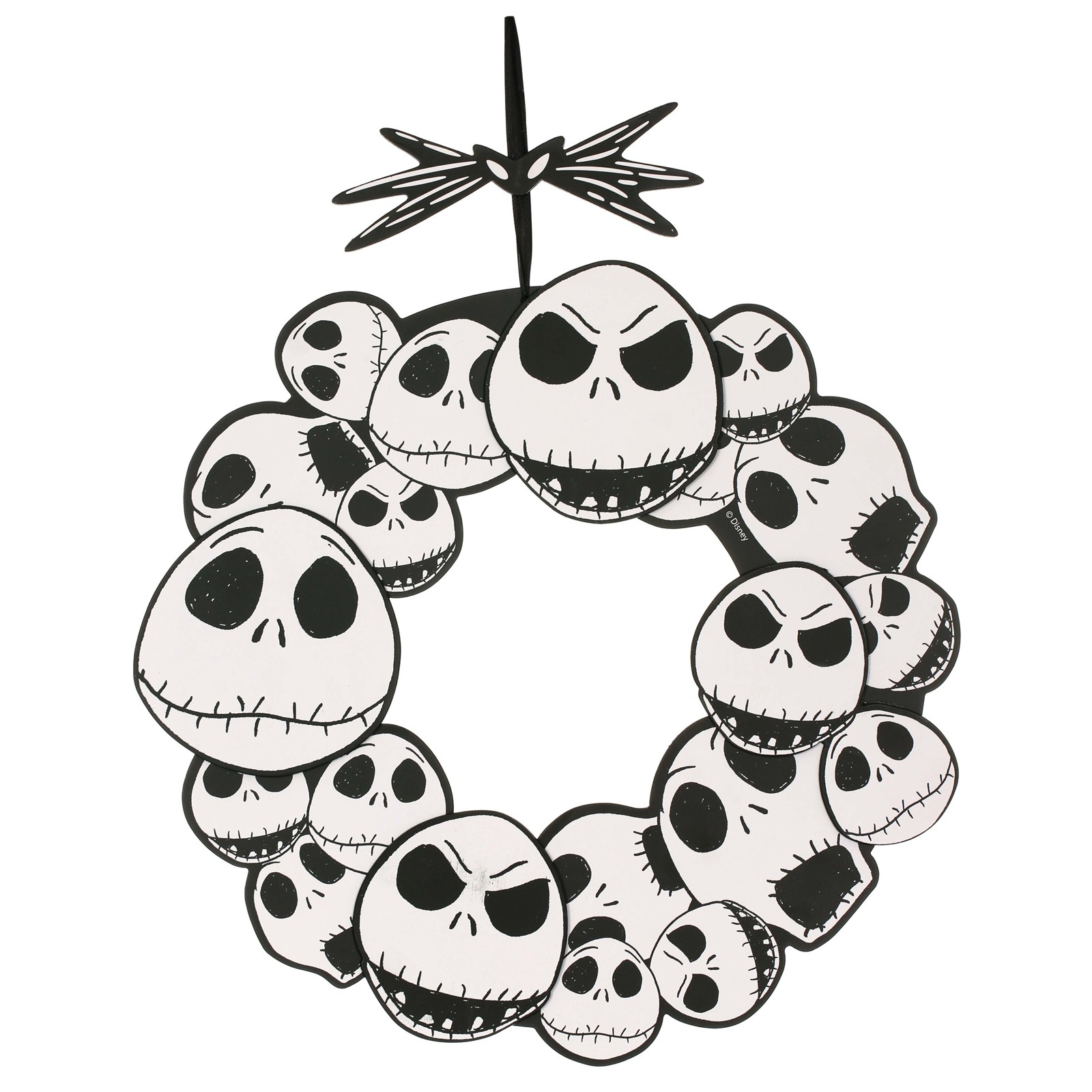 The Nightmare Before Christmas 17 Jack Skellington Wreath Walmart Com Walmart Com