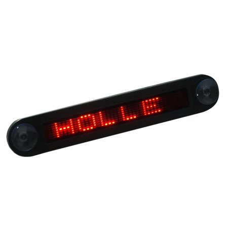 12V Car Mini Super Slim LED Programmable Message Sign Scrolling Display Board with Remote Programmable Scrolling Led