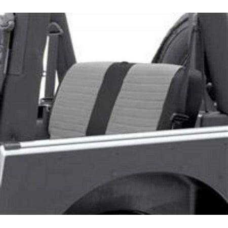 Smittybilt 2008-2012 Jeep  Wrangler JK 4 Door XRC Seat Cover Rear Black Sides  Gray Center 758211