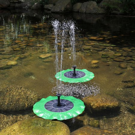Redcolourful Lotus-shaped Solar Powered Bird Bath Fountain Pump Free Standing Solar Panel Kit Water Pump for Pool Garden Pond Decor