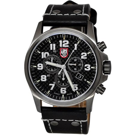 Movement Black Leather - Luminox Men's Atacama Field Chrono Black Genuine Leather Black Carbon Fiber Dial Gunmetal Case Movement: Quartz