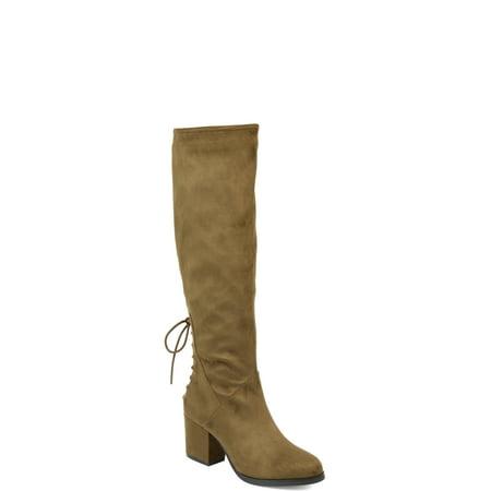 - Womens Extra Wide Calf Knee-high Heeled Boot