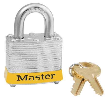 """Lockout Padlock,KA,Yellow,1-1/4""""H MASTER LOCK 3KAYLW-0873"""