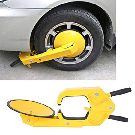 Anti Theft Cable - Dealkoo Wheel Lock Clamp Boot Tire Claw Auto Car Anti Theft Lock