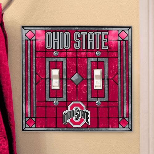 Ohio State Buckeyes Light Switch Cover Double Glass Walmartcom