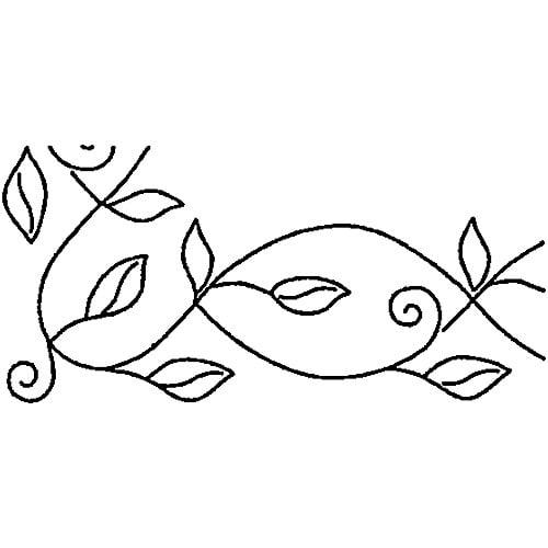 """Sten Source Quilt Stencils By Pepper Cory, 5"""" Leafy Branch Braid"""