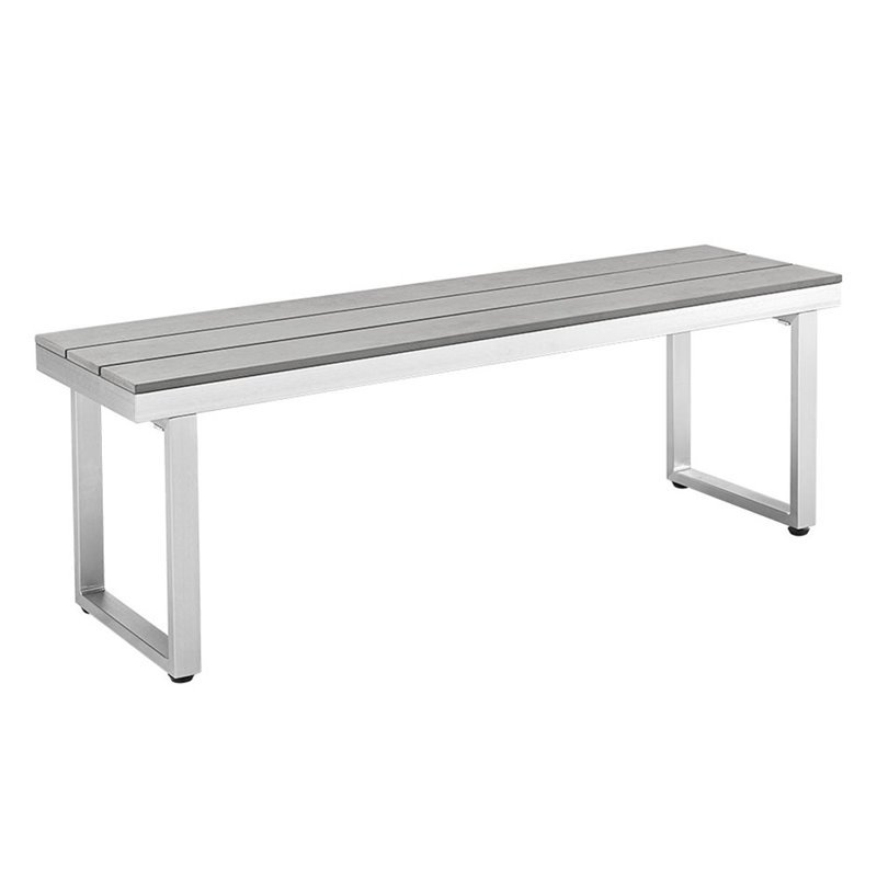 All-Weather Outdoor Patio Bench in Gray - image 4 of 4