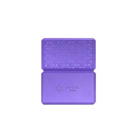 AVIVA YOGA 9x6x4 Yoga Block Set - 2 High Density EVA Foam Blocks and Free  Sackpack – An Essential Prop for Yoga, P90X, Stretching  (Purple)