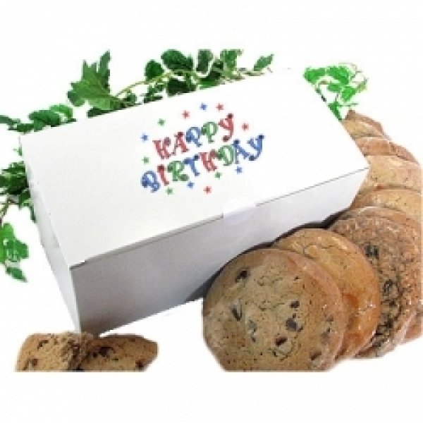Birthday Gift Box Cookie Bouquet 12 Gourmet Cookies by