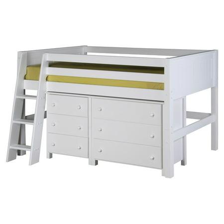 Camaflexi Panel Headboard Low Loft Storage Bed