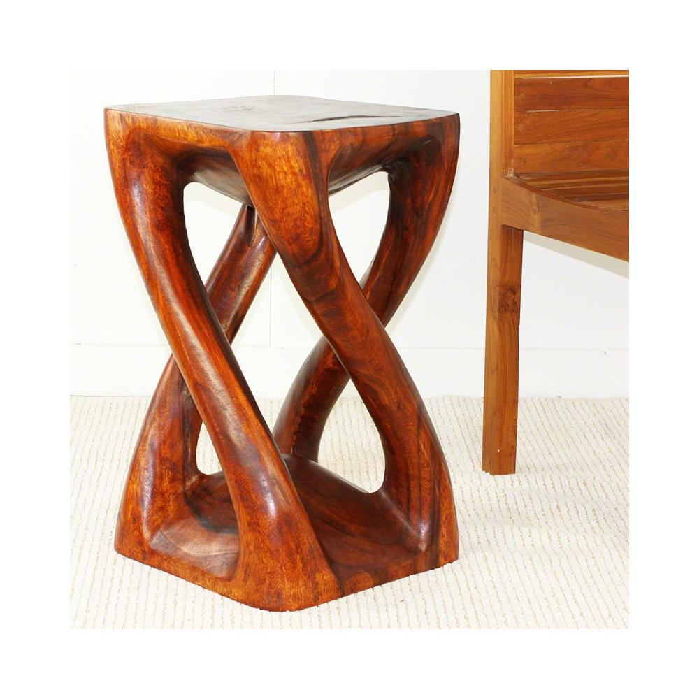 Haussmann Vine Twist Stool 14 In X 23 In H Cherry Intensive VT1423-L-CIN