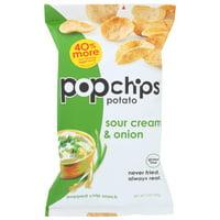 Popchips Potato Chip, Sour Cream, Onion, 5 Oz, Pack Of 12