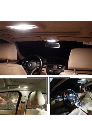car 15 pcs white led map light interior package kit. Black Bedroom Furniture Sets. Home Design Ideas