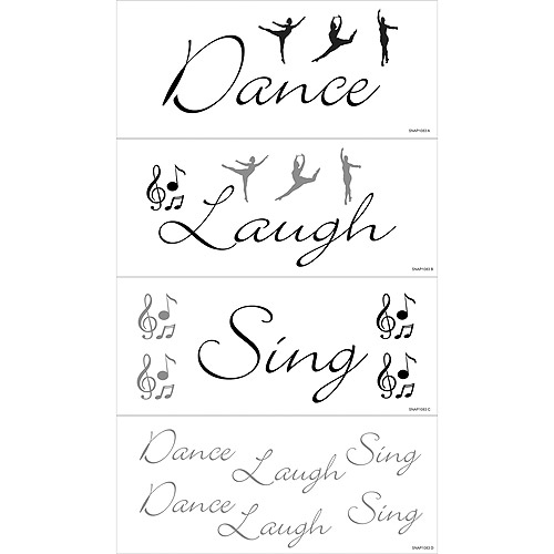 Dance, Laugh, Sing Self-Stick Decal