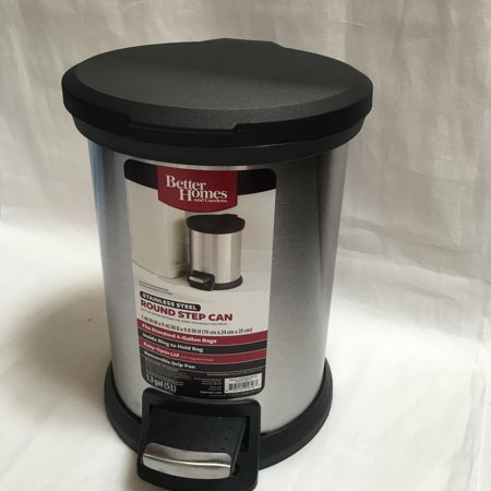 Better Homes Gardens Bhg 5 Litre Ss Round Trash Can