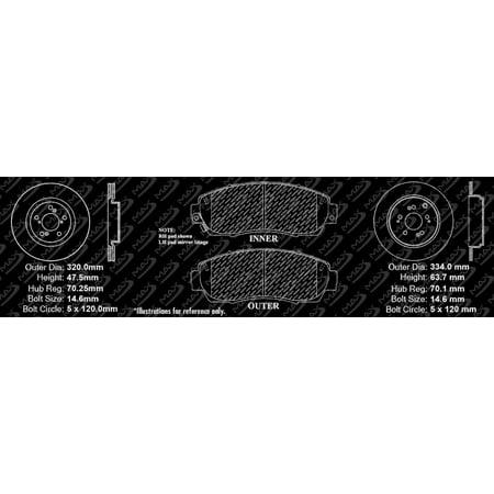Max Brakes Front & Rear Premium Brake Kit [ OE Series Rotors + Metallic Pads ] TA104043 | Fits: 2014 14 Honda Odyssey - image 7 de 8