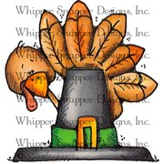 "Whipper Snapper Cling Stamp 4""X6""-Tucker The Turkey"