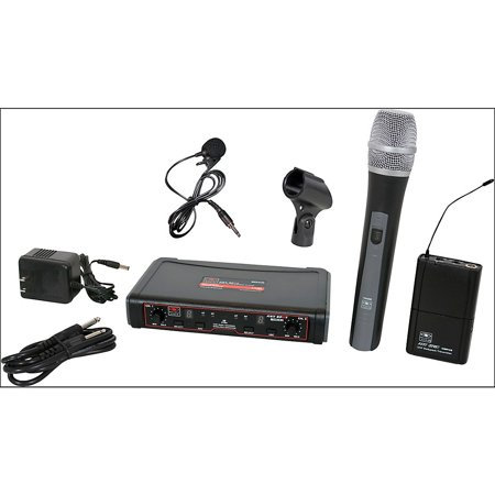 Galaxy Audio EDXR/HHBPV Dual Channel Wireless System, Code N 518-535 MHz w/ Handheld & Lavalier Mics