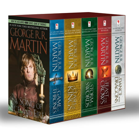 - George R. R. Martin's A Game of Thrones 5-Book Boxed Set (Song of Ice and Fire  Series) : A Game of Thrones, A Clash of Kings, A Storm of Swords, A Feast for Crows, and  A Dance with Dragons