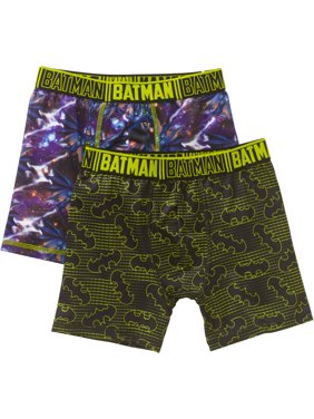 Batman, Boys Underwear, 2 Pack Boxer Briefs (Little Boys & Big Boys)