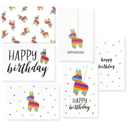 Birthday Cards In Bulk (Birthday Card - 48-Pack Birthday Cards Box Set, Happy Birthday Cards - Pinata Designs Birthday Card Bulk, Envelopes Included, 4 x 6)