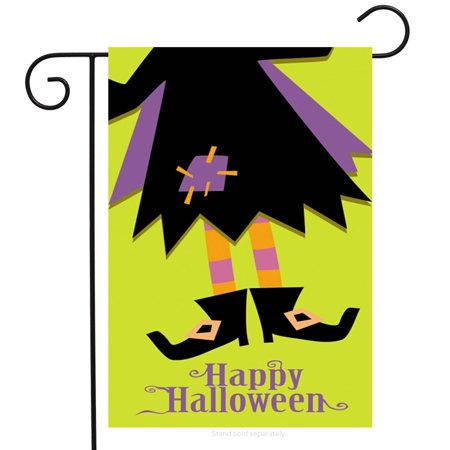 Is Six Flags Open On Halloween (Halloween Boots Witch Garden Flag Holiday 12.5