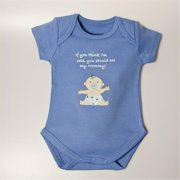 Little Ashkim BSCASMOMB1218 Cute As Mommy Boy Bodysuit - Blue, 12-18 Months