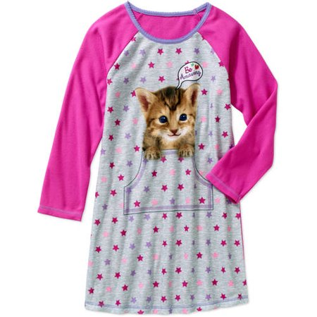 8e64120e8 Emoji - Girls' Long Sleeve Sleep Gown - Walmart.com